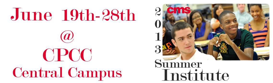 CMS 2013 Summer Institute